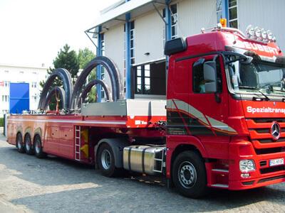 Innenlader Transport Stahlringe